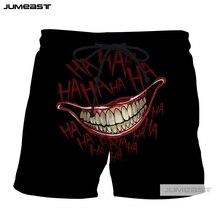 Jumeast 3D Print Fashion HAHA Joker Short Pants Funny Why So Serious Smile Face Men/Women Loose Size Novelty Board Shorts