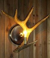 Lâmpada de parede de cabeceira staghorns multithread lâmpada de parede do vintage breve lâmpada de parede estilo americano|bedside wall lamp|vintage wall lamp|wall lamp -