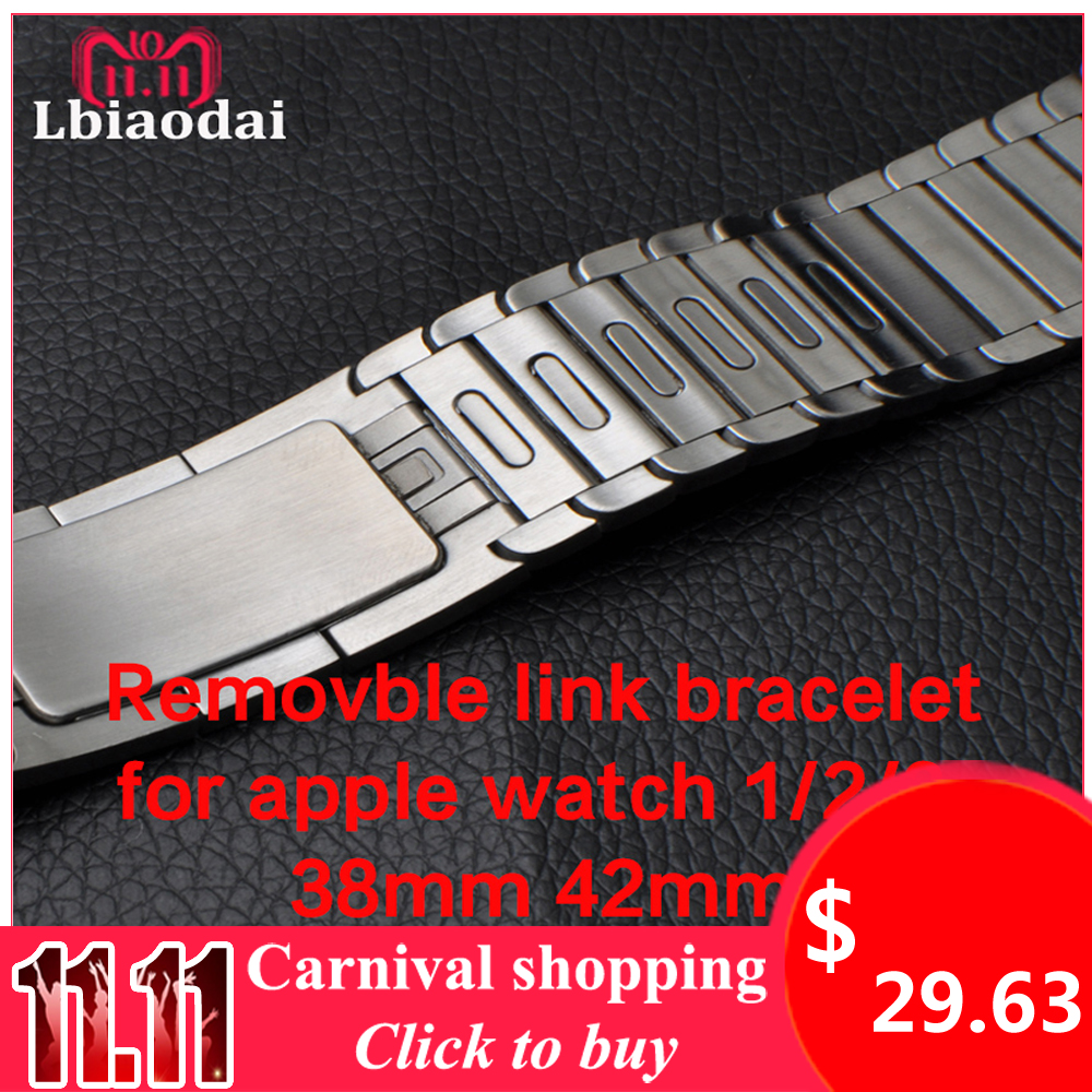 Stainless Steel Strap for Apple watch Band 4 42mm 38mm 44mm 40mm watchband correas link bracelet metal belt iwatch series 3 2 1 case link bracelet strap for apple watch 4 3 2 1 44mm 40mm band stainless steel metal buckle watchband iwatch series 42mm 38mm