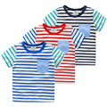 Baby boy stripe short-sleeve T-shirt 2016 summer children's clothing child basic shirt  kids boys Clothing
