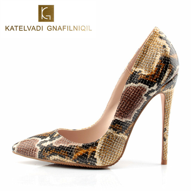 Shoes Woman Snake Printed Women Red Bottom Shoes Sexy 12CM High Heels Pumps Pointed Ladies Party Wedding Shoes Women Pumps Stilettos sale pre order GzW59d
