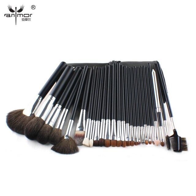 Anmor High Quality 26 PCS Professional Makeup Brush Set Goat Hair Cosmetic Brush Set With Brush Bag BZ002
