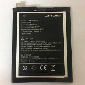 3800mAh For UMI Z Battery For UMI Z Pro Battery Umidigi Z Umidigi Z Cell Phone Batteries