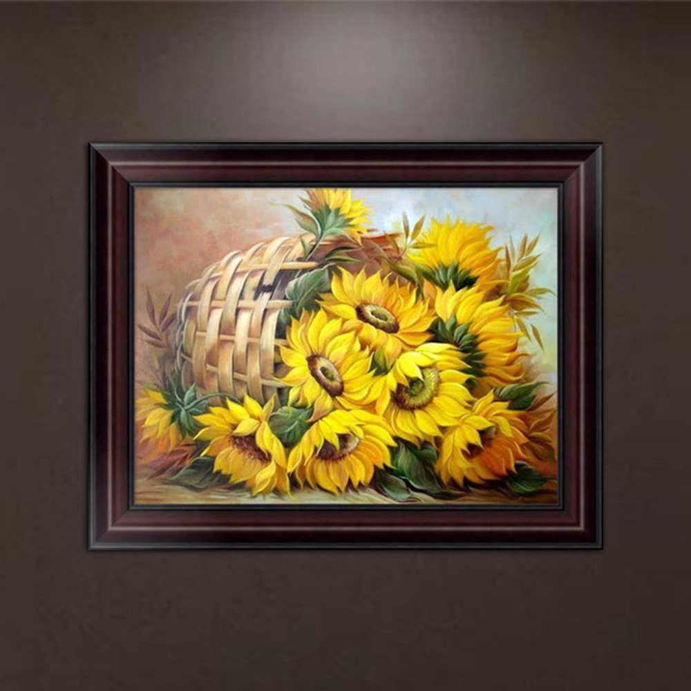 DIY Sunflower 5D Diamond Embroidery Painting Cross Stitch Art Craft ...