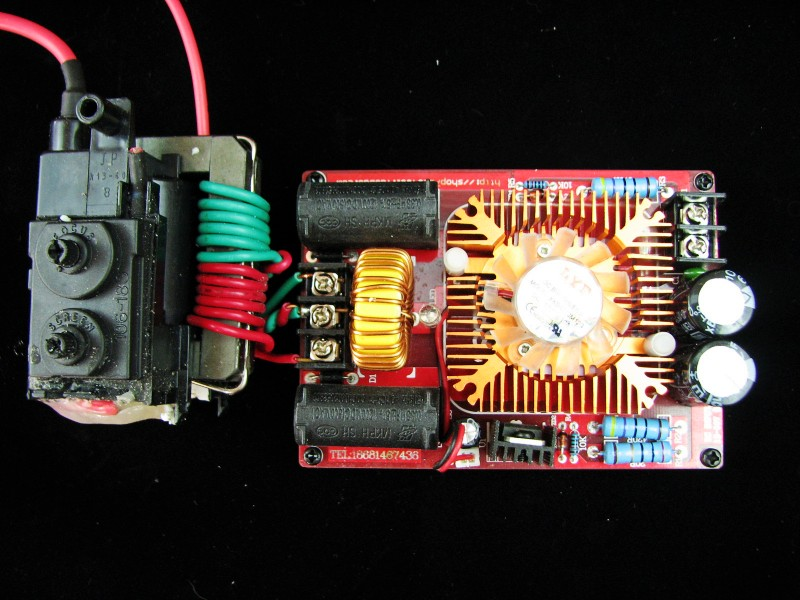 ZVS driver board, ZVS Tesla coil power supply High voltage generator drive plate include High pressure bag Teaching experiment plasma speaker arc loudspeaker music tesla coil amazing flashing generator pllsstc control board teaching experiment
