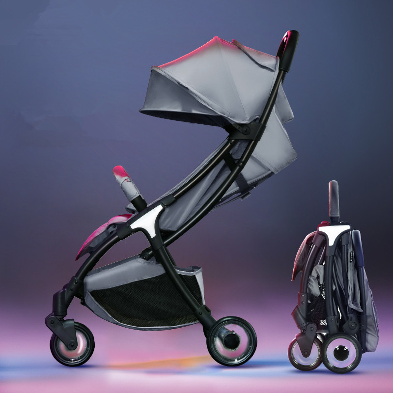 Luxury Foldable Baby Stroller KidsTravel Bebek Arabasi Lightweight Kinderwagen Baby Car Folding Poussette Pram цена