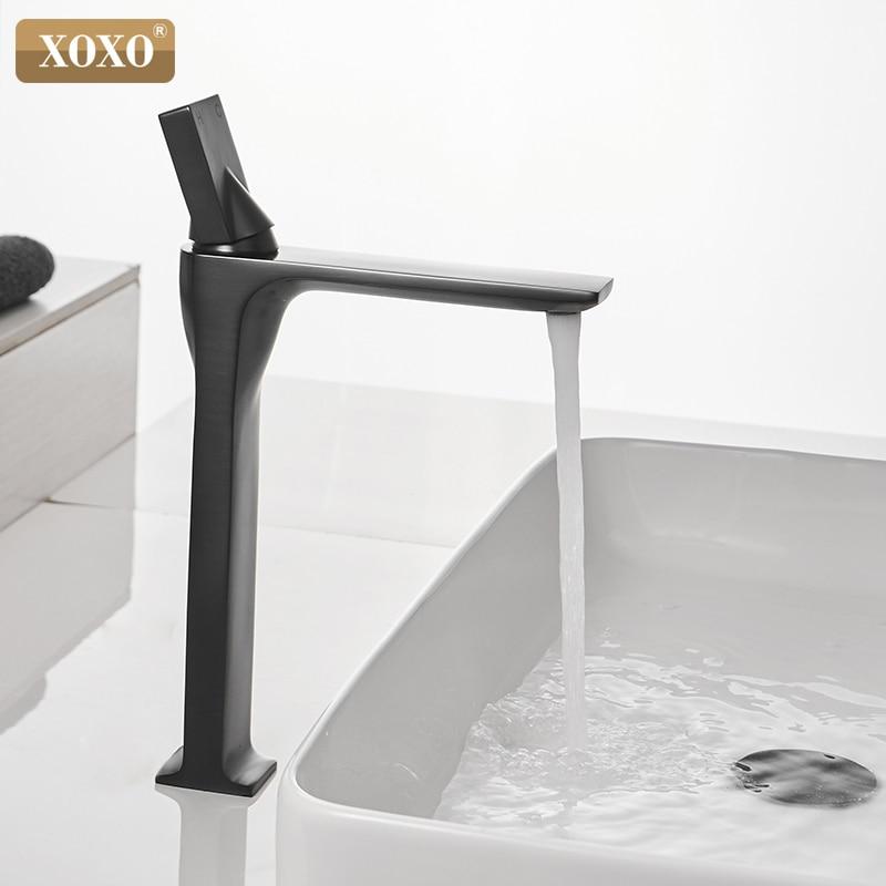 XOXO Basin Faucet Retro Black Faucet Taps Bathroom Sink Faucet Single Handle Hole Deck Vintage Wash