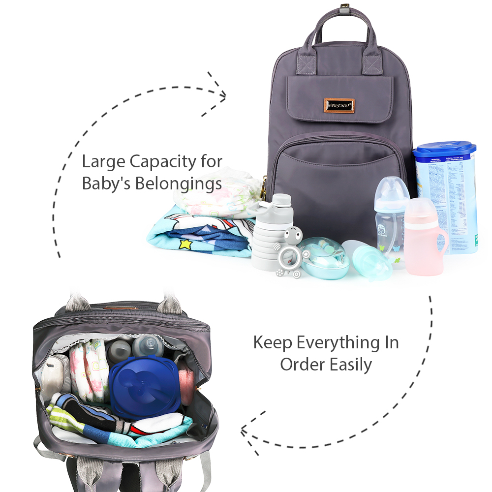 Image 2 - TYRY.HU Mummy Maternity Bag Large Capacity Diaper Bags Popular Nappy bags Backpacks For Moms-in Diaper Bags from Mother & Kids