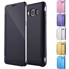 For Samsung Galaxy J2 Prime Case Mirror Plating Leather Cover for G532 G532M Grand Plus 5.0