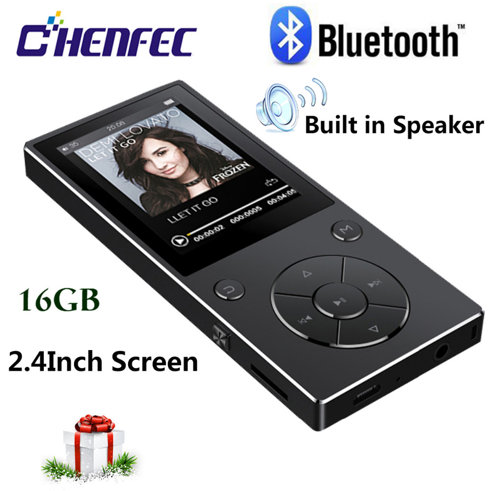 MP3 Player Bluetooth4 2 Speaker 16GB Portable Hifi Music Player Walkman With FM E book Recording