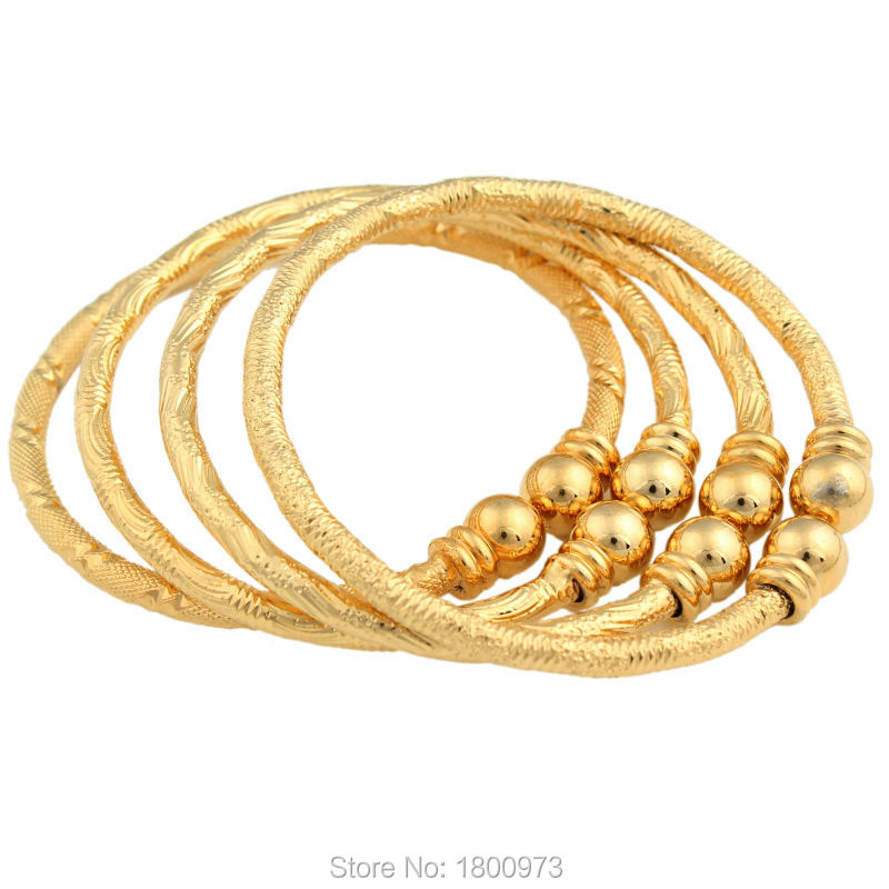 2017 New Dubai Gold Baby Bangle Jewelry For Boys Girls18K Gold ...
