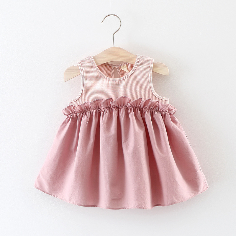 3ba49c6739ddb JMS Kasenbely New Arrival Summer Girl Peplum Dress Baby and Toddler  Solid-colored Sleeveless Pleated Dress