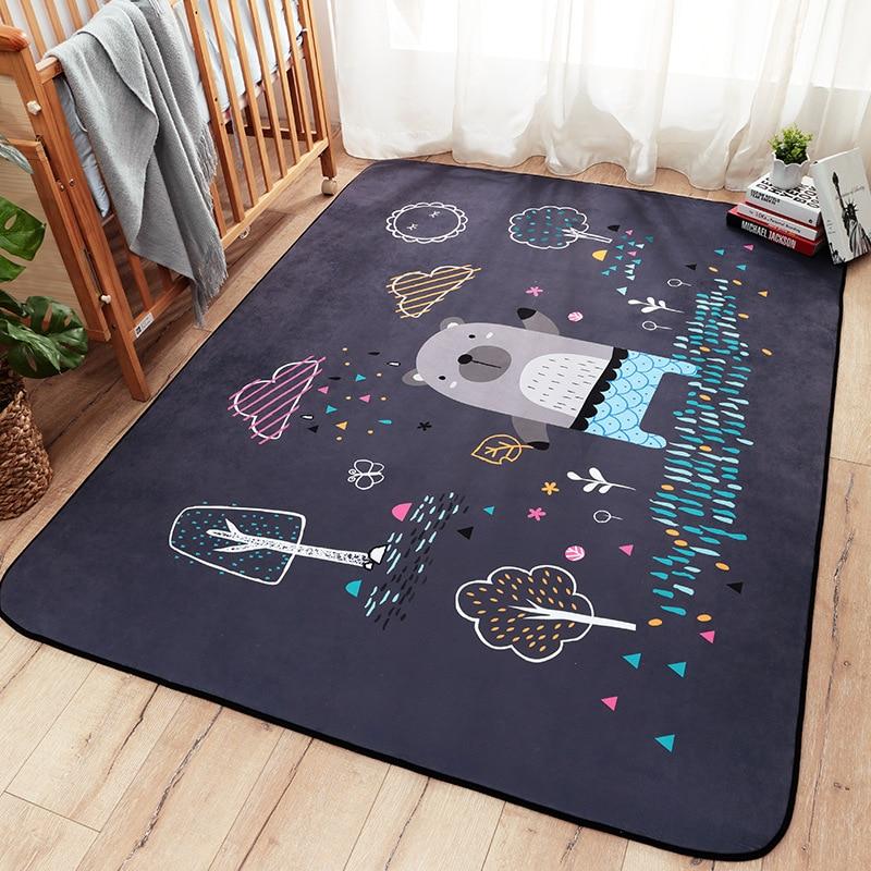 Детские блестящие мультфильм ребенка играть коврики из толстой замши Гостиная Ковры дети спальня Rugs одеяло из экологичных материалов
