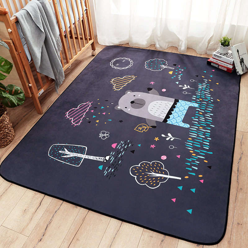 Infant Shining Cartoon Baby Play Mats Thicking Suede Carpet Living - Baby and Toddler Toys
