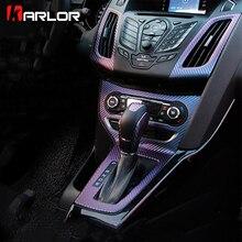 Передняя отделка Управление Панель наклейка на розетку наклейка из углеродного волокна авто автомобилей стайлинга автомобилей для Ford Focus 3 MK3 аксессуары