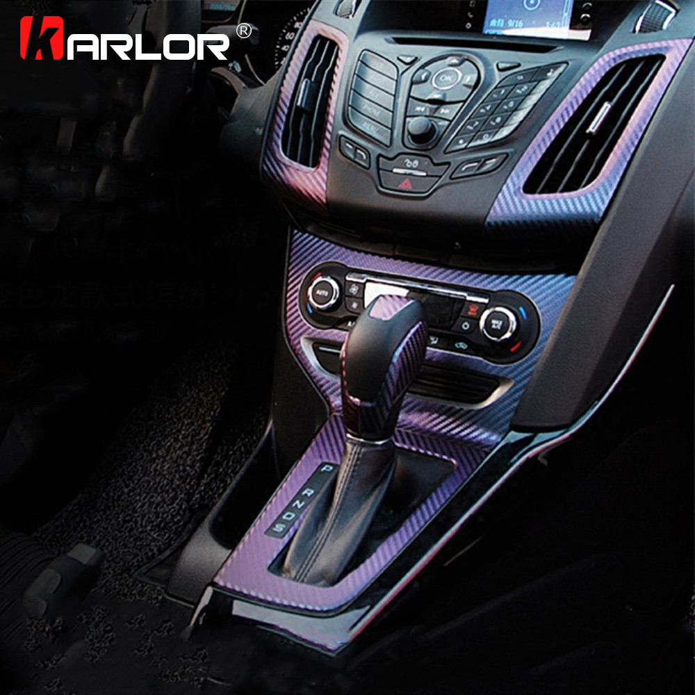Interior Central Control Panel Outlet Sticker Carbon Fiber Decal Auto Automobiles Car Styling For Ford Focus 3 MK3 Accessories