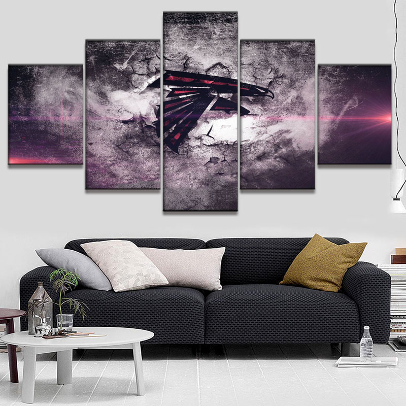 Hd Prints Atlanta Falcons Logo Boys Room Deco Painting On Canvas Modern Home Liveing Wall Art Decorate Poster