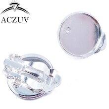 С серебряным покрытием 200 шт 10 мм 12 мм 14 мм 16 мм 18 мм гнездо для кабошона зажим для серьги, приклад кольца с огранкой серьга с пустым основанием ECS002