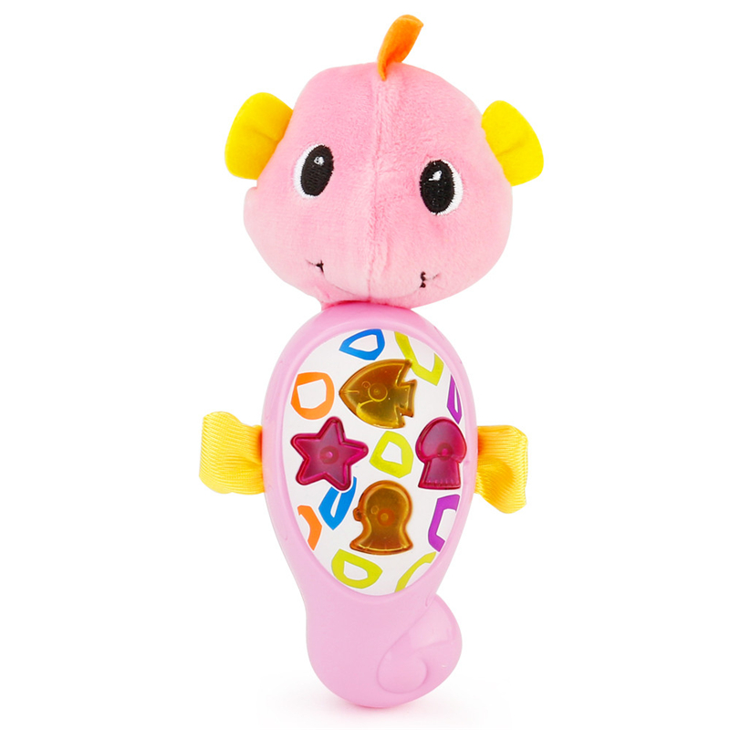 New Cute Animal Shapes Music Sound Baby Sleeping Somfort Toys Calm Doll Hippocampus Kids Toys For Children Baby Anti-Stress