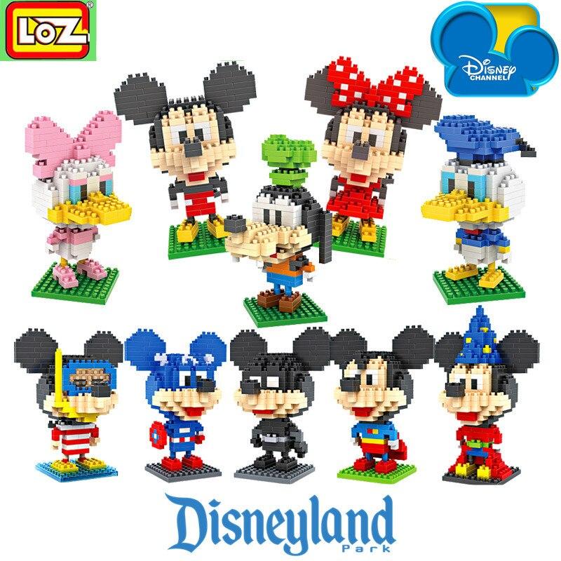 LOZ NanoBlocks Cartoon Cute Diamond Building Blocks Micky Mouse Minnie Donald Duck Goofy Action figures Education Kids Toys Gift