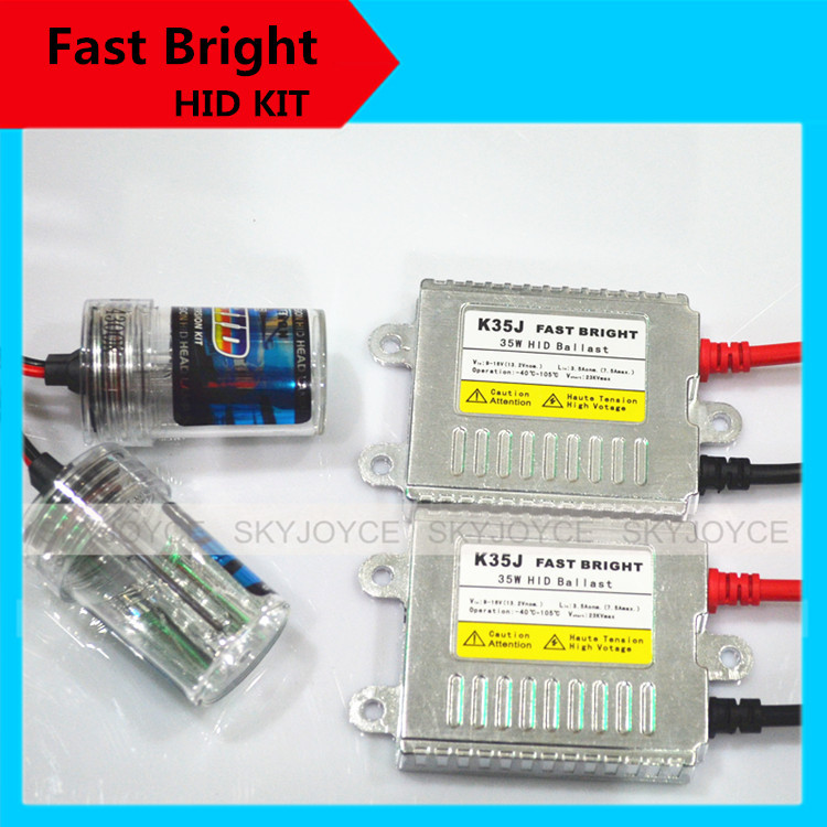 1 set  fast bright hid kit 35W 12V xenon white fast start H7 hid xenon kit H1 H3 H11 9005/6 880 H27 hid kit bright than halogen cnsunnylight 38w xenon hid kit canbus quick start bright smart ballast all colors 4300k 6000k replacement bulb h1 h3 h4 h7 h11