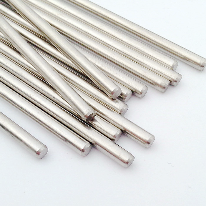 5pcs 2.5mm x 150mm DIY Stainless Steel Straight Round Bar Bar Silver Tone