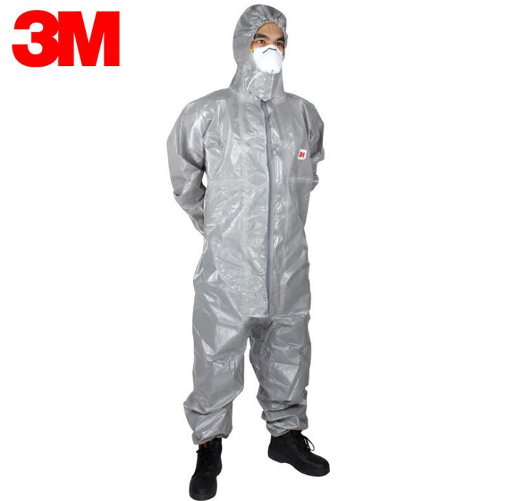 3M 4570 hooded protective clothing against chemical liquid splash protective clothing dustproof anti-static clothing 3m 4515white non woven fabric coverall clothes anti static and anti chemical liquid splash and effective protection of particles