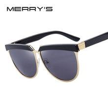 MERRY S Sobrancelhas Estilo Verão óculos de Sol Moda Feminina Óculos De Sol  de Marca Designer de Aves S 8024 635aaad948