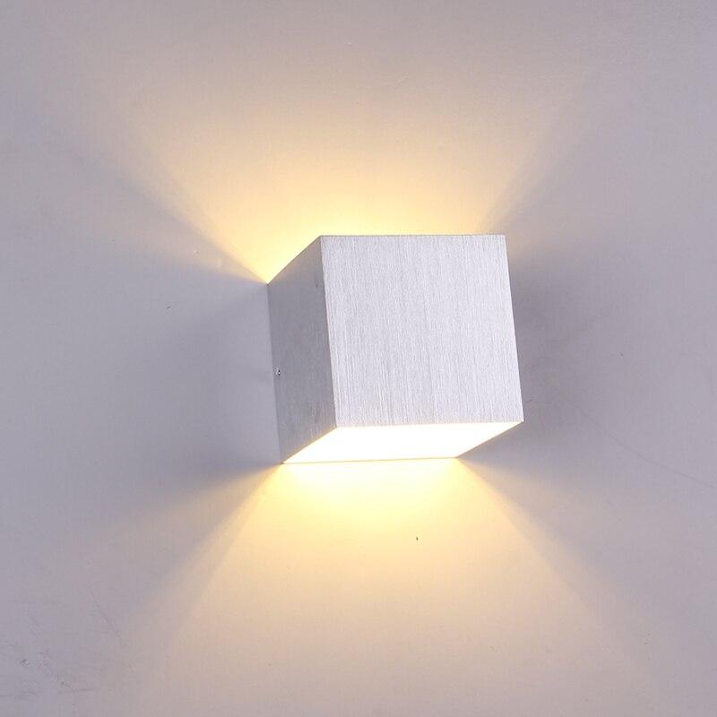 3W AC85V-265V Aluminum LED Wall Lamp Double Lighting Fixture Indoor for Corridor Sitting Room Saloon Sofa Background Wall Light feimefeiyou luminaria lampada de led 3w aluminum indoor wall lighting morden lamp for corridor bedingroom