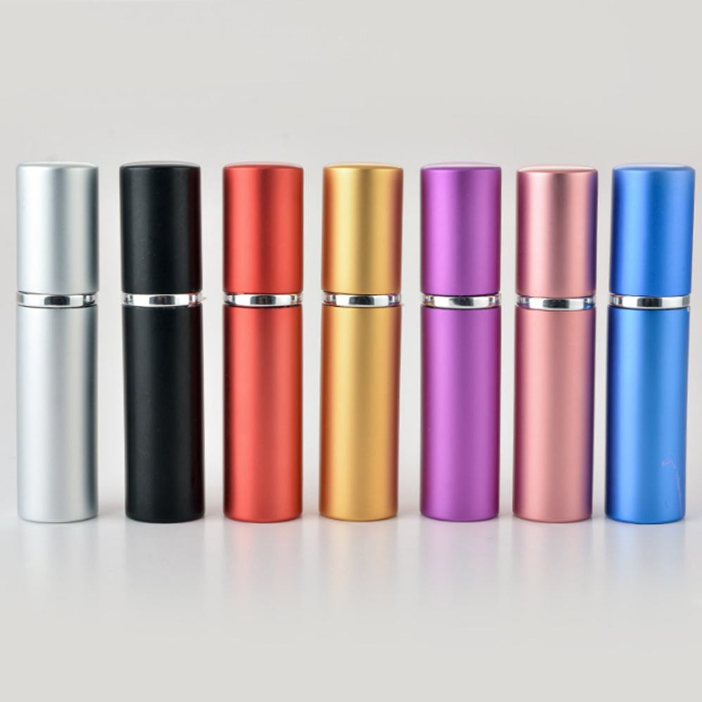 все цены на 5ML Mini Portable Aluminum Refillable Perfume Bottle With Spray Empty Cosmetic Containers With Atomizer For Traveler