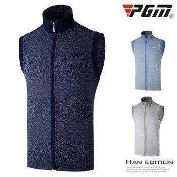 PGM Golf dress men's vest autumn winter warm vest windproof jacket