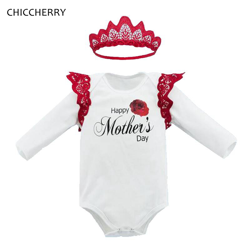 Happy Mothers Day Baby Girl Clothes Long Sleeve Baby Rompers New Born Macacao Bebe Jumpsuit Kids Overalls Vetement Bebe Fille