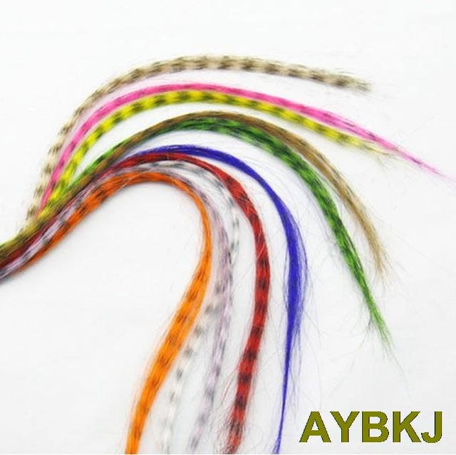 10pcspack Colorful Synthetic Hair Feathers Extensions 16 Inches