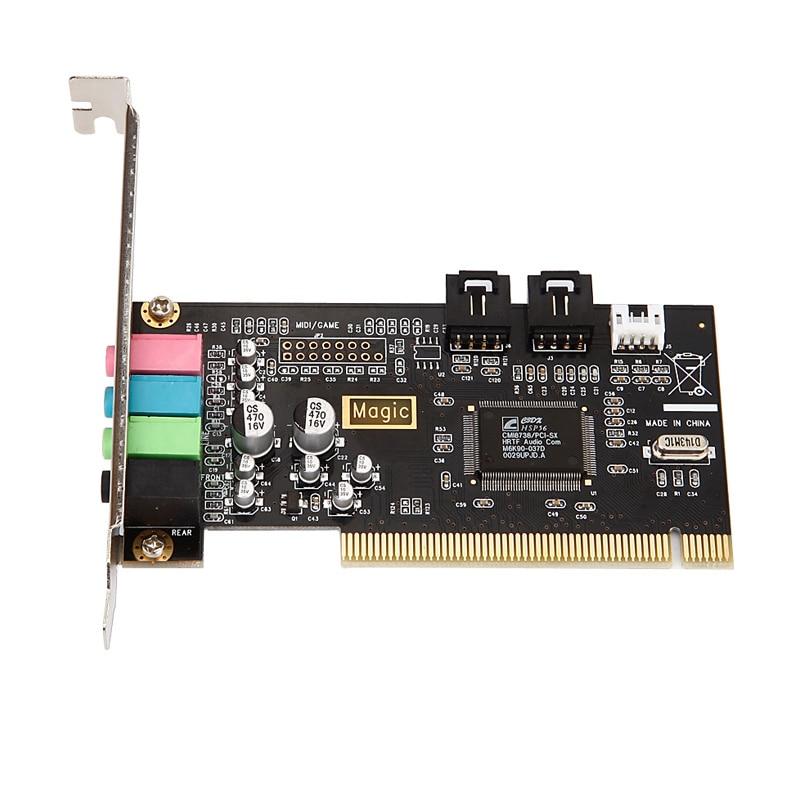 Klassische Pci Soundkarte 4 Audio Adlib Encoding Grundlegende Soundkarte Desktop Pci Soundkarte