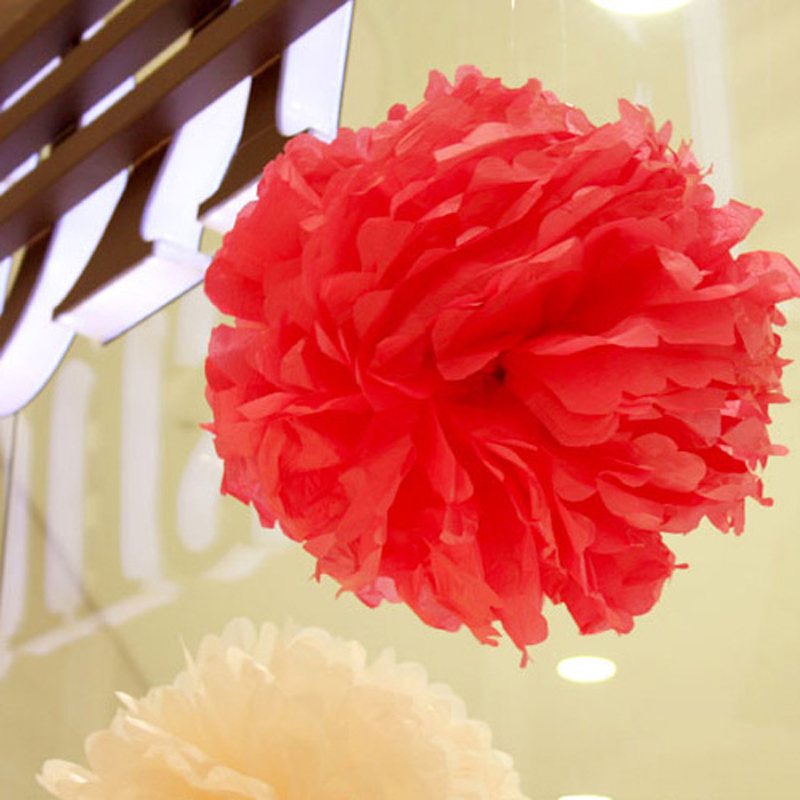 30pcs pompons tissue paper pom poms flowers paper balls crepe paper 30pcs pompons tissue paper pom poms flowers paper balls crepe paper flower balls 6 14 decoration mariage wedding party home in artificial dried mightylinksfo