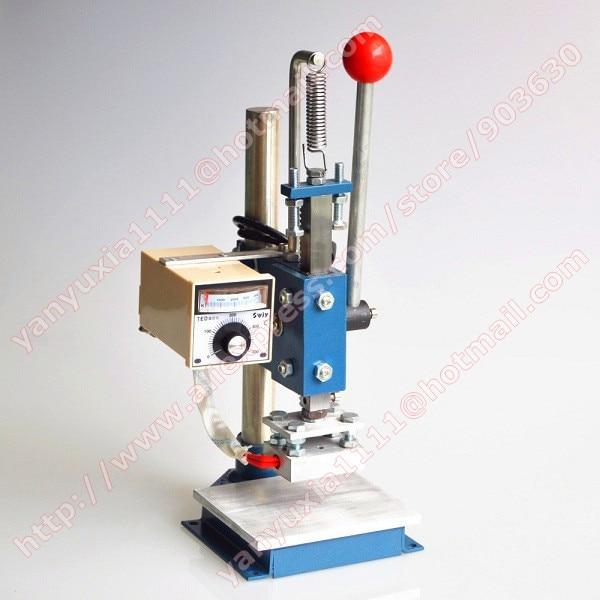 220V--5x7cm Manual Stamping Machine,leather printer,Creasing machine,hot foil stamping machine,marking press,embossing machine