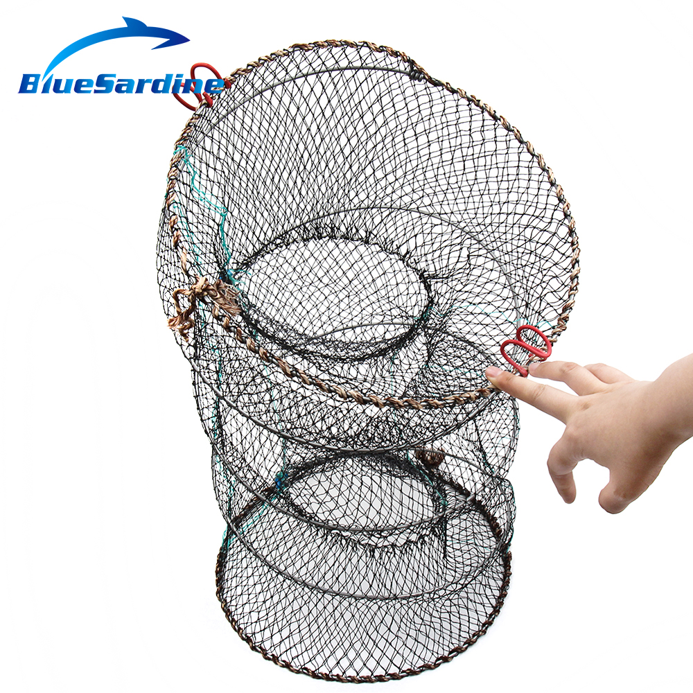 BlueSardine Folding Fishing Net Fish Net Cage Crab Trap Cast Net Fishing Tackle