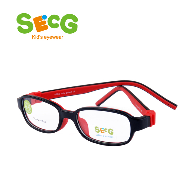 8c90831feb SECG Square Detachable Soft Kids Glasses Frame Flexible Students Solid  Silicone Children Glasses Optical Eyeglasses Lunette