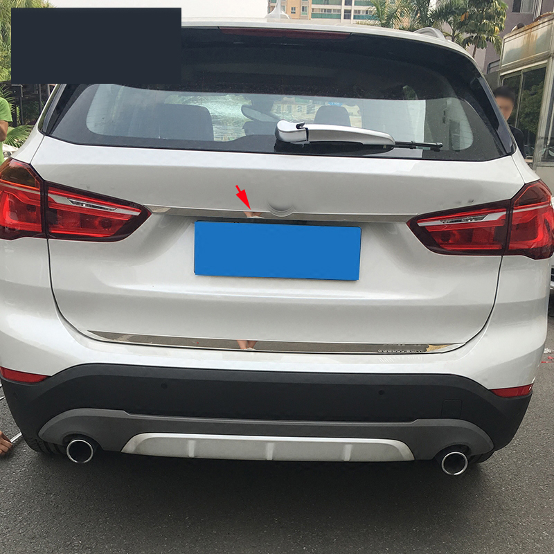 Stainless Tail Rear Trunk Door Tailgate Logo Cover Trim For BMW X1 F48 2016 2017 In Interior Mouldings From Automobiles Motorcycles On Aliexpress