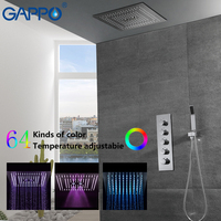 GAPPO Shower Faucets mixer tap brass bathroom Waterfall wall shower rainfall shower set LED bathroom mixers grifo ducha