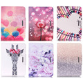 For Samsung GALAXY Tab 4 10.1 SM-T530 T530 Case Fashion Cartoon Giraffe Crayon Dandelion Style PU Leather Flip Tablet Back Cover