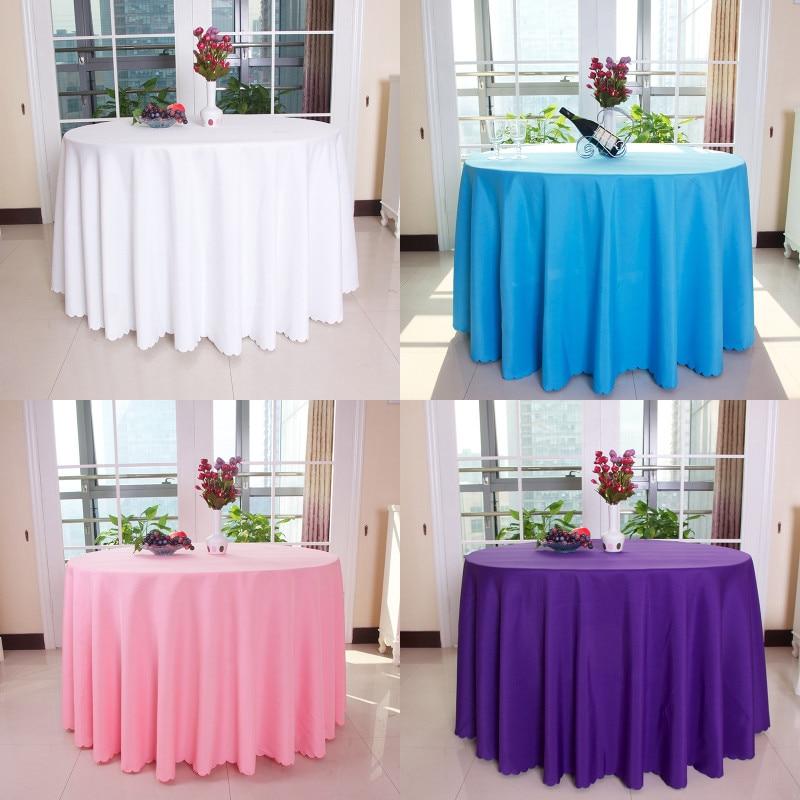 Nové 10 ks polyesterové kulaté 240 CM (94,5 palce) ubrus Nappe de stůl svatební ubrus strana ubrus jídelní stůl povlečení