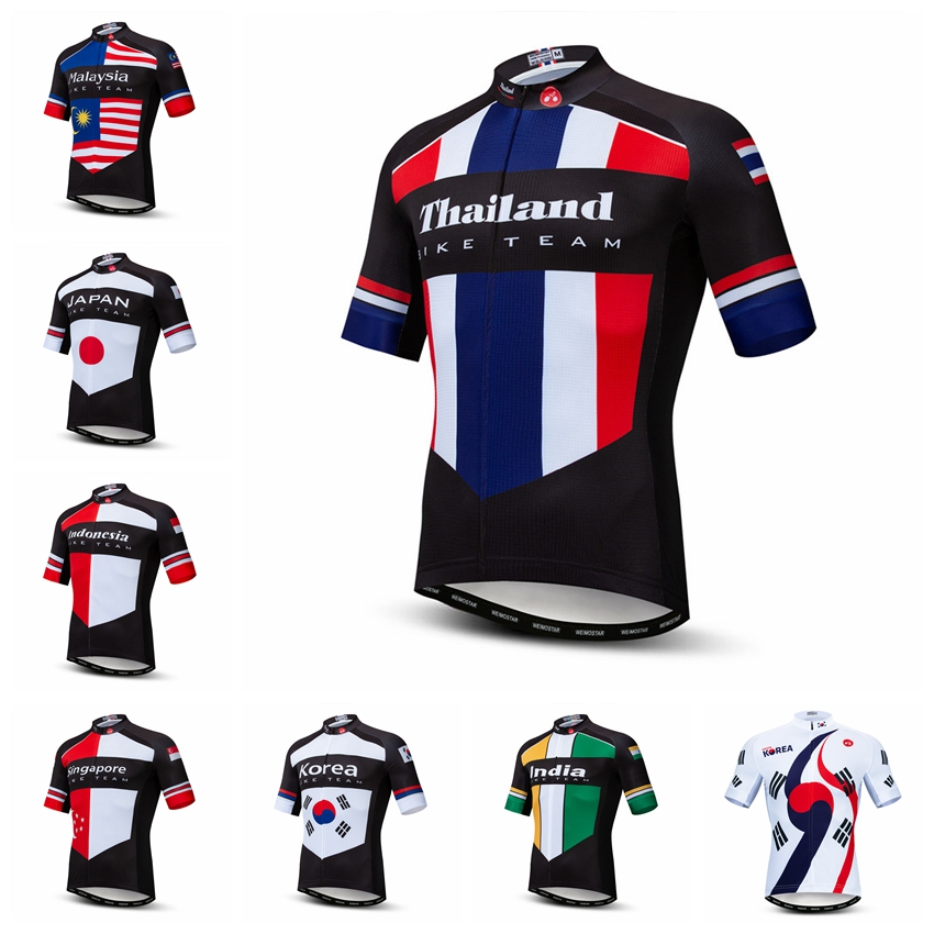 2019 Cycling Jersey Men Bike Jerseys Bicycle Tops  Ropa Ciclismo mtb Mountain Shirt cycle jersey Thailand Japan Korea Indonesia