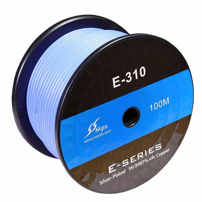 MPS E-310 99.9997% 5N כסף מצופה OFC אודיו קו חוט כבל Hifi DIY סאב RCA אות קו רמקול XLR כבל