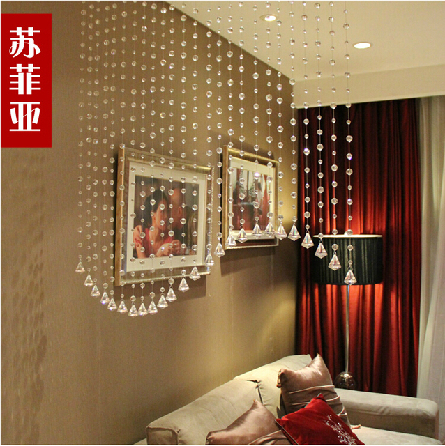 Freeshipping 32 section crystal bead curtains for hotel office or freeshipping 32 section crystal bead curtains for hotel office or home decor hanging door beads curtain teraionfo