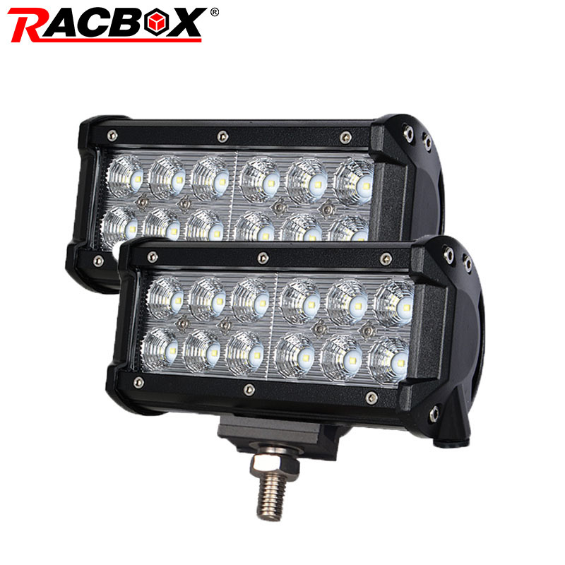 2Pcs 7 Inch 36W Offroad LED Light Bar Flood Spot Beam Spotlight for Jeep SUV UAZ ATV 4x4 Boat Tractor Truck 12V LED Work Light mint green casual sleeveless hooded top
