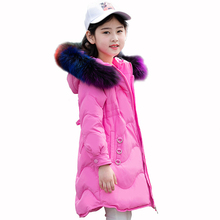 Girl Snow Wear Girls Down Jackets Coats Winter Warm Thicken Coats Thick Duck Down Kids Jacket Children's Outerwears Cold Winter 2017 fashion girl s down jackets coats winter baby coats thick warm jacket children outerwears 30degree jackets