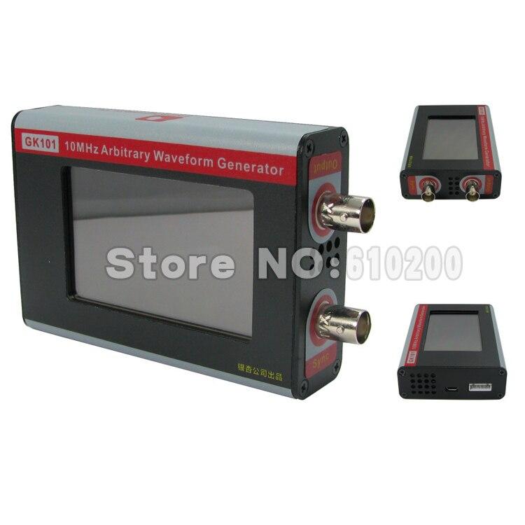 Version anglaise nouveau noir GK101 couleur LCD écran tactile DDS arbitraire générateur de forme d'onde fonction générateur de signal 80MSa/s 10 MHz