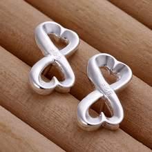 Серебряный цвет креативные серьги гвоздики с крестом простые