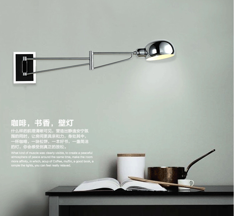 Swing modern wall lamps led Wall Sconce Bedside wall Lights Reading Lights bedroom lamps ajustable Wall-Mounted indoor light new fashion modern mounted wall lamps led wall lights sconce lampara wall lights for home luminary leds stair lampadas e27